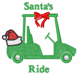Santas Ride embroidery design