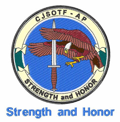 Strength And Honor embroidery design