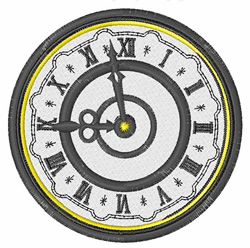 Clock embroidery design