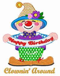 Clownin Around embroidery design