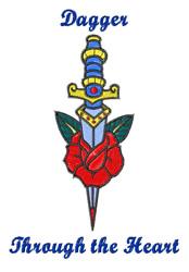 Dagger embroidery design