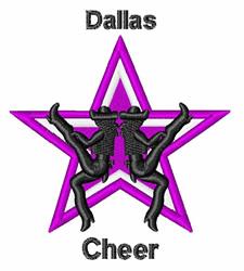 Dallas Cheer embroidery design