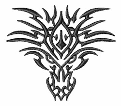 Tribal Dragon Tattoo embroidery design