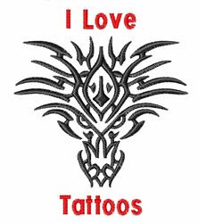 I Love Tattoos embroidery design