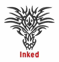 Inked embroidery design