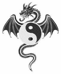Ying Yang Dragon embroidery design