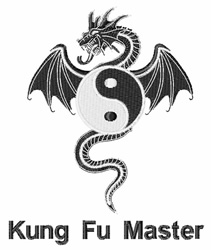 Kung Fu Master embroidery design
