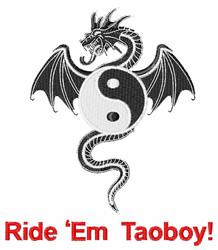 Ride Em Taoboy embroidery design
