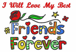 Best Friends Forever embroidery design