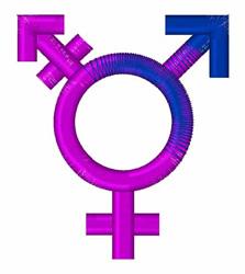 Transgender Symbol embroidery design
