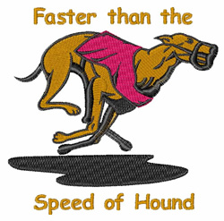 Speed Of Hound embroidery design