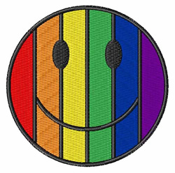 Gay Pride Happy Face embroidery design