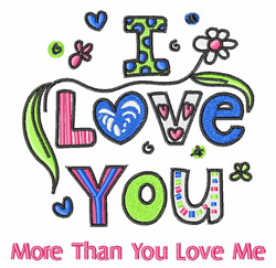 More Than You embroidery design