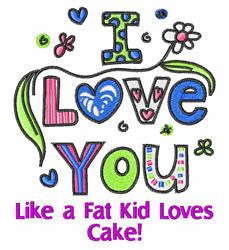 Like A Fat Kid embroidery design