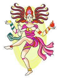 India Dancing Figure embroidery design