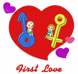 First Love embroidery design