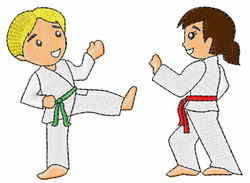 Martial Arts Kids embroidery design