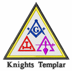 Knights Templar embroidery design
