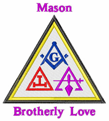 Brotherly Love embroidery design