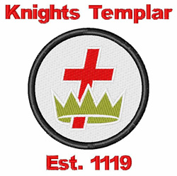 Commander Of Knights Templar embroidery design
