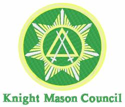 Knight Mason embroidery design