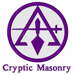 Cryptic Masonry embroidery design