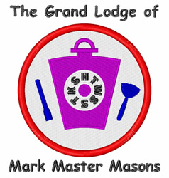 Mark Master Masons embroidery design