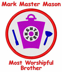 Worshipful Brother embroidery design
