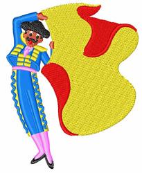 Matador Bullfighter embroidery design
