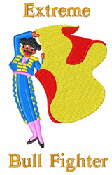 Extreme Bullfighter embroidery design
