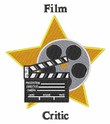 Film Critic embroidery design