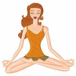 Yoga Girl embroidery design