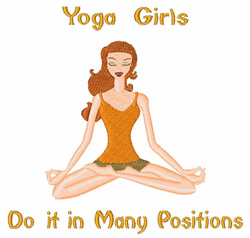 Yoga Girl embroidery design