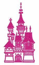Castle embroidery design