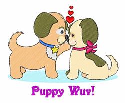 Puppy Wuv embroidery design