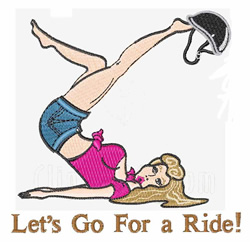 Go For A Ride embroidery design