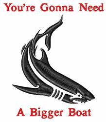 Bigger Boat embroidery design