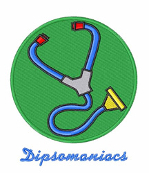 Dipsomaniacs embroidery design