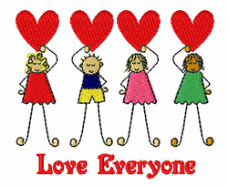 Love Everyone embroidery design