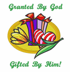 Granted By God embroidery design