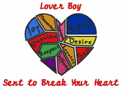 Lover Boy embroidery design