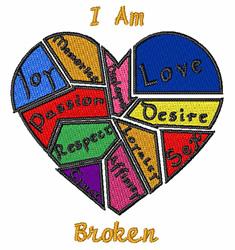 I Am Broken embroidery design
