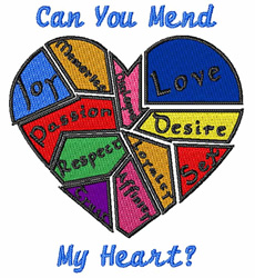Mend My Heart embroidery design
