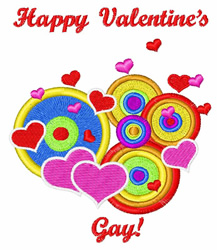 Happy Valentines Gay embroidery design