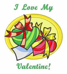 Love My Valentine embroidery design