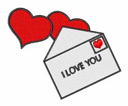 Valentine Letter embroidery design