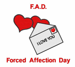 Forced Affection Day embroidery design