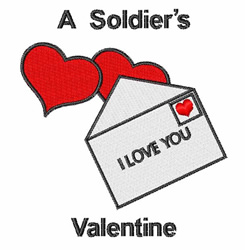 A Soldiers Valentine embroidery design