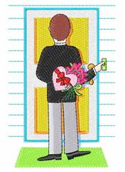 Valentine Date embroidery design