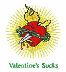 Valentines Sucks embroidery design